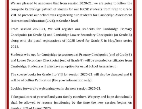 Letter For IGCSE Parents